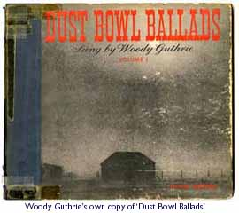 Woody Guthrie's copy of Dust Bowl Ballads
